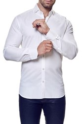 Maceoo Elegance Long Sleeve Trim Fit Shirt Big And Tall Available White