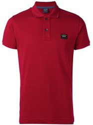 Paul And Shark Logo Patch Polo Shirt Red