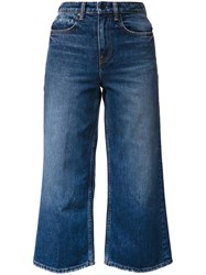 Alexander Wang T By Cropped Jeans Blue