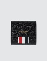 Thom Browne Small Coin Case In Pebble Grain Black