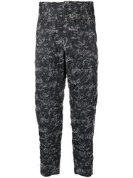 Lost And Found Ria Dunn Plaid Cropped Trousers Grey