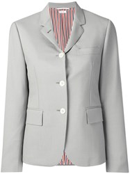Thom Browne Dyed Mohair Narrow Sport Coat Grey
