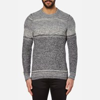 Boss Orange Men's Agruade Crew Neck Jumper Grey
