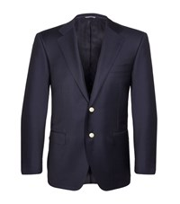 Canali Gold Button Blazer Male