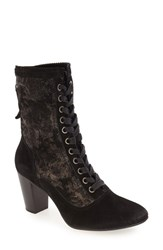 Johnston And Murphy Women's 'Adaline' Lace Up Boot Black Metallic Print Suede