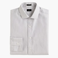 J.Crew Ludlow Shirt In Charcoal Stripe End On End Cotton
