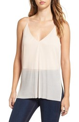 Astr Women's Side Split Pleated Camisole