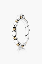 Pandora Design 'Opposites Attract' Band Ring Silver Gold