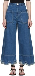 See By Chloe Blue A Line Jeans