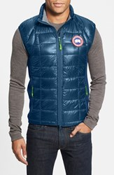 Men's Canada Goose 'Hybridge Lite' Slim Fit Packable Quilted 800 Fill Down Vest Midnight Blue Green Aster
