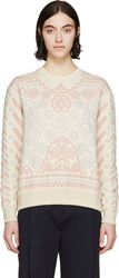 Stella Mccartney Cream And Pink Quilted Sweatshirt