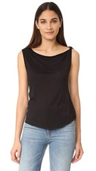 The Hours One Shoulder Tank Black