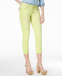 Jessica Simpson Forever Cuffed Skinny Ankle Jeans Citron