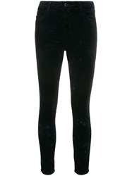 J Brand Mid Rise Skinny Trousers Blue