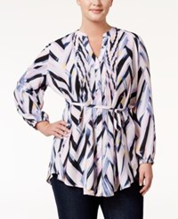 Melissa Mccarthy Seven7 Trendy Plus Size Chevron Print Tunic Spotlight Killer