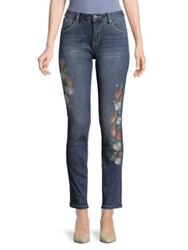 Jag Sheridan Embroidered Slim Jeans White Indigo