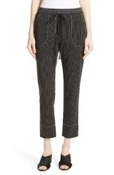 Tracy Reese Women's Stripe Pull On Pants Black White