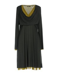 Almeria Knee Length Dresses Dark Green