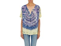 Raquel Allegra Women's Tie Dyed Silk Blouse Purple