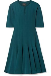 Akris Wool Blend Dress Teal
