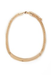 Forever 21 Plated Mesh Chain Necklace Gold