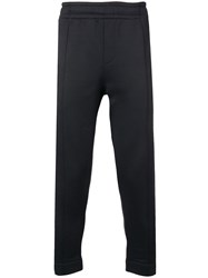 Ami Alexandre Mattiussi Trackpants With Heart Patch And Zipped Black