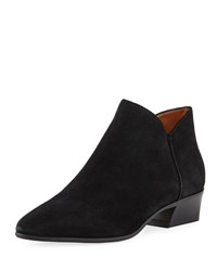 Aquatalia By Marvin K Faydell 30Mm Suede Ankle Boot Black