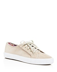 Jack Rogers Carter Suede Lace Up Sneakers Dove Gray