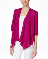 Alfani Petite Linen Blend Open Front Cardigan Only At Macy's Modern Orchid