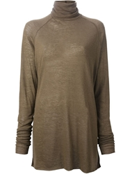 Haider Ackermann Turtleneck Sweater Green