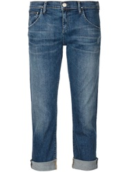 Gold Sign Goldsign 'His' Cropped Jeans Blue