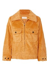The Great Boxy Cotton Corduroy Jacket Yellow