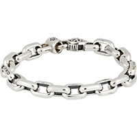 Good Art Hlywd Men's Oval Link Chain Bracelet Silver