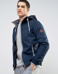 Solid Jacket With Hood Navy
