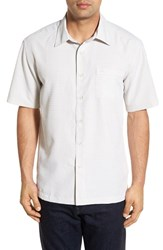 Men's Quiksilver Waterman Collection 'Centinela 4' Short Sleeve Sport Shirt Sandstone