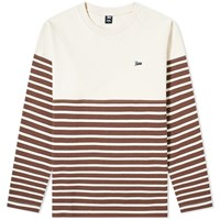 Patta Long Sleeve Stripe Tee Brown
