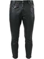 Dsquared2 Faux Leather Skinny Trousers Black