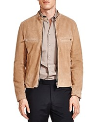 The Kooples Suede Racing Jacket Camel