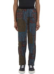 James Long Paisley Print Jogger Pants Black