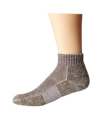 Thorlos Trail Running Mini Crew Walnut Crew Cut Socks Shoes Brown