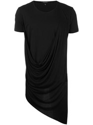 Unconditional Asymmetric Drape T Shirt Black
