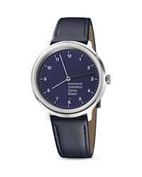 Mondaine Helvetica No. 1 Regular Bleu Marine Watch 40Mm Blue
