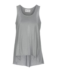 Brand Unique Tank Tops Grey
