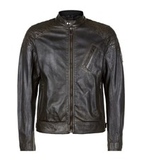 Belstaff Sandway Leather Jacket Male Black