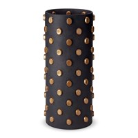 L'objet Teo Black And Gold Vase