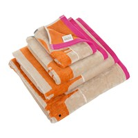 Scion Mr Fox Towel Cerise And Tangerine Pink Orange Neutral