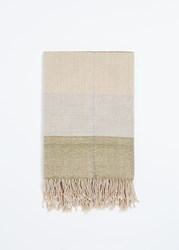Minna Grid Throw Fern Tan Lilac