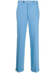 Essentiel Antwerp Wool Blend Trousers Blue