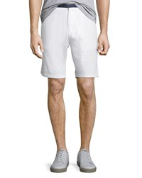 Civil Society Resort Guy Tailored Linen Shorts White