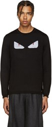 Fendi Black Monster Eyes Sweater